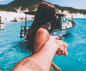 beach, summer, and love image