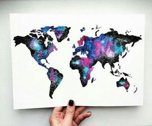 art, world, and galaxy image