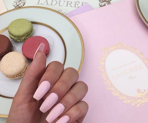 nails, food, and pink image