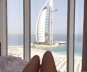 summer, Dubai, and beach image