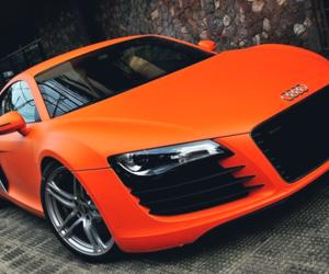 car, audi, and orange image