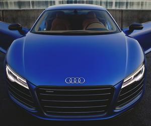 blue, car, and audi image