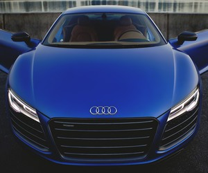 blue, car, and audi image