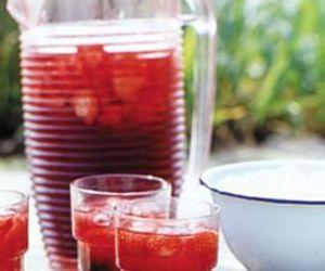 ice tea, erdbeeren, and rezept image