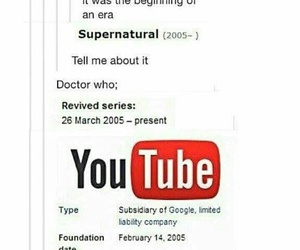 doctor who, supernatural, and tumblr image