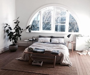 bedroom, home, and bed image