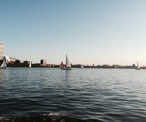 boston, sail boats, and massachusetts image