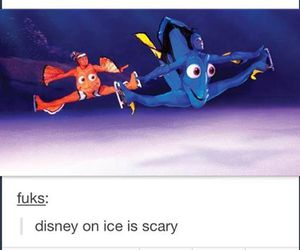 funny, disney, and scary image