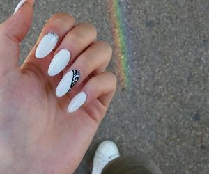 nails, rainbow, and summer image