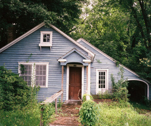 blue, home, and house image