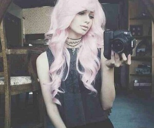 beautiful girl, beauty, and coloured hair image