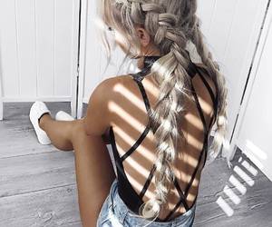 braids, hair, and places image