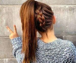 trenza cabello recogido image