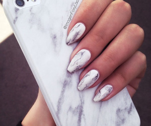 nails, iphone, and marble image