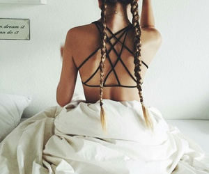 bed, braids, and hairstyle image
