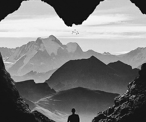 beautiful, heart, and black and white image