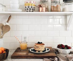 food, kitchen, and pancakes image