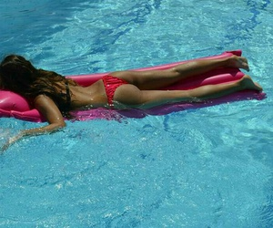 pool, summertime, and swimming image