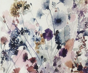 beauty, flowers, and watercolour image