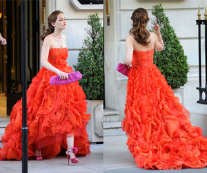 dress, gossip girl, and blair waldorf image
