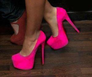 heels and pink heels image