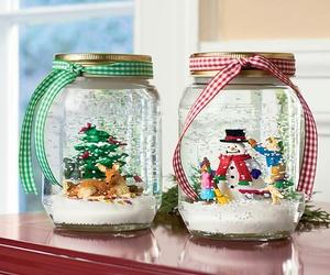 christmas, diy, and snow image