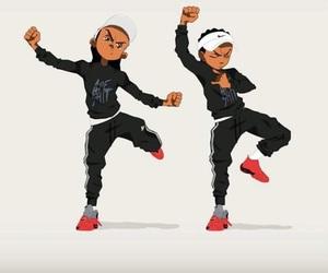 cartoon, nigga, and swag image
