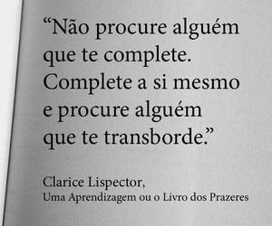 alguem, complete, and clarice lispector image