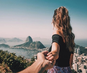 travel, couple, and view image