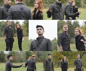 clary fray, harry shum jr, and magnus bane image