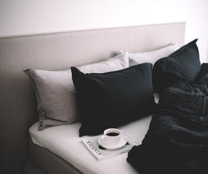 bed, interior, and morning image