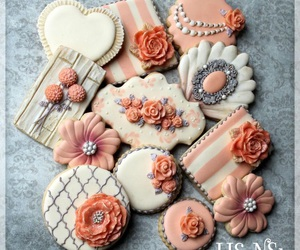 birthday, Cookies, and coral image