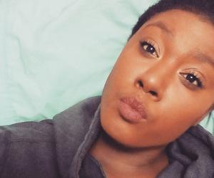brown, dark, and makeup image