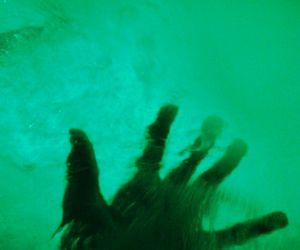green, hand, and water image