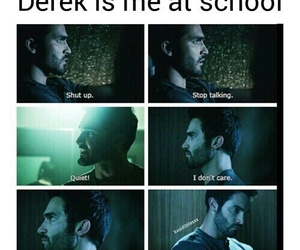 teen wolf, funny, and derek hale image