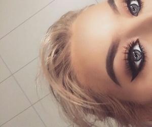 blonde, blue eyes, and eyelashes image