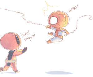 chibi, spiderman, and spidey image