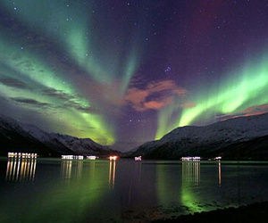 fjord, polarlicht, and norway image
