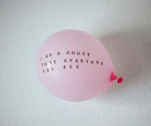 balloons, quotes, and pink image
