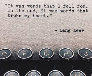words, quote, and Lang Leav image