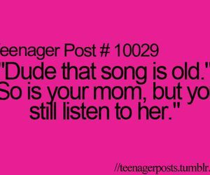 teenager post, quotes, and song image