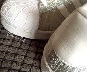 adidas, glitter, and white image