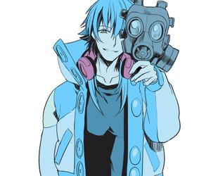blue hair, aoba, and dramatical murder image