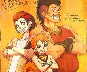 simba, disney, and timon image