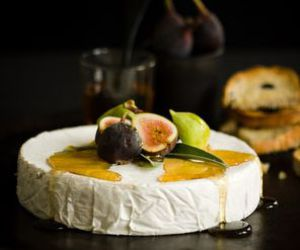 cheese, fig, and food image