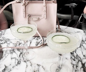 drink, marble, and pink image