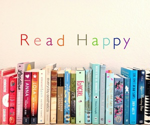 book, read, and happy image