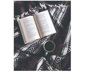 book, blanket, and tumblr image