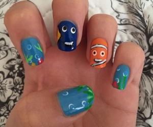 nail art, nemo, and nails image
