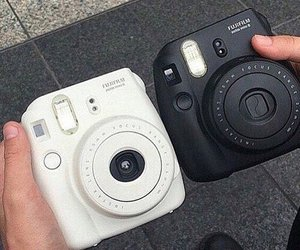 black, white, and camera image